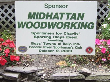 Midhattan WoodWorking Sponsors Sportsmen for Charity - Boy's Town of Italy